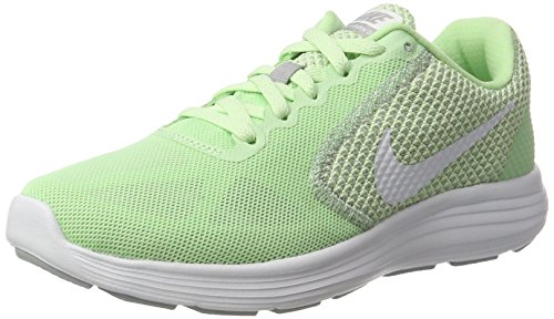 Nike Damen Revolution 3 Laufschuhe, Grün (Fresh Mint/White-Wolf Grey), 36 EU