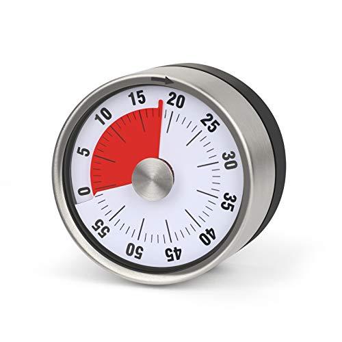 Aceshop Timer da Cucina Meccanico Magnetico Timer Visivo da 60 Minuti Nessuna Batteria Richiesta Orologio per La Gestione del Tempo Visivo per Cucina, Riunioni, Apprendimento, Cottura al Forno