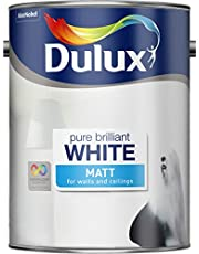 Dulux Matt Emulsion Paint For Walls And Ceilings - Pure Brilliant White 5L