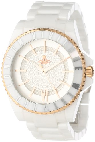 Vivienne Westwood Unisex VV048RSWH Ceramic Swiss Quartz Watch