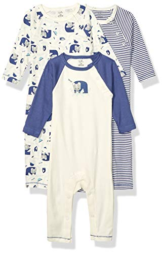 Touched by Nature unisex baby Organic Cotton Coveralls Jumpsuit, Woodland, 9-12 Months US