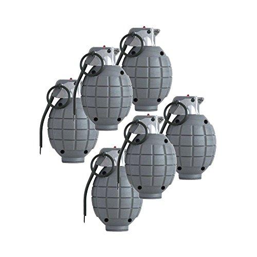 Kinder Armee SAS Toy Handgranaten - Set Von 6 Schwarz Dummy Granaten [Spielzeug]