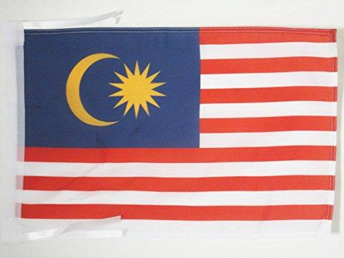 AZ FLAG Flagge Malaysia 45x30cm mit Kordel - Malaysia Fahne 30 x 45 cm - flaggen Top Qualität