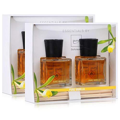 Geschenkset Essentials by Ipuro Pure Vanilla 2x 50 ml Raumduft (2er Pack)
