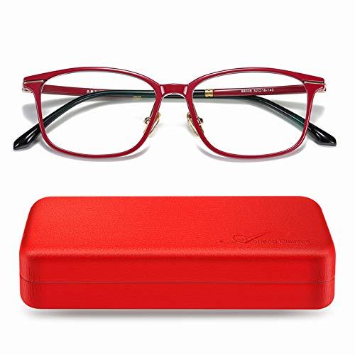 AoHeng Brille mit Negatives Ion TR90 Blaulichtfilter Blockieren Blaue Licht von PC,TV und Handy Katzenauge ohne sehstärke Computerbrille