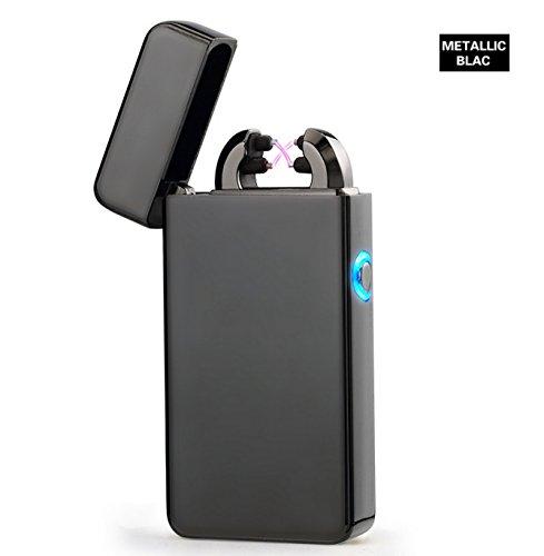 Aokvic Aokvic USB elektronisches Feuerzeug aufladbar lichtbogen (Schwarz) Black
