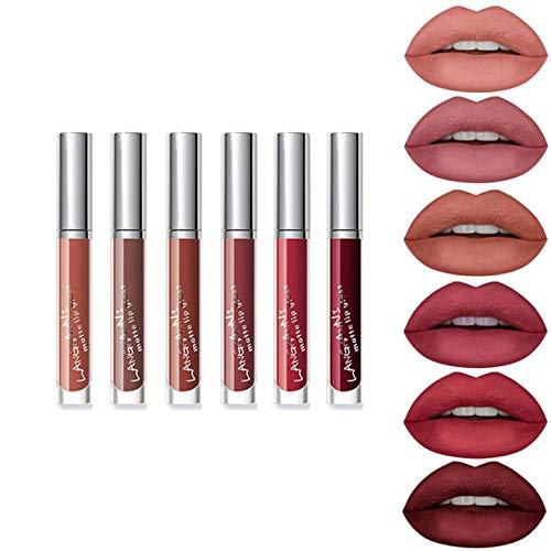 Subsky 6 Couleur Set Rouge à Lèvres Liquide Mat Longue Tenue