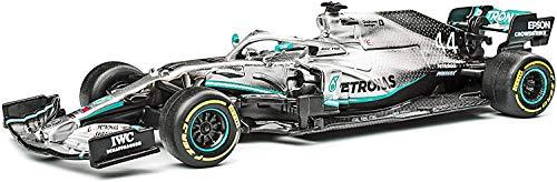 Bburago - Modelo a escala 1/43 compatible con Mercedes AMG compatible con Petronas F1 W10 EQ Power+ 2019 # 44 compatible con Lewis Hamilton (Plata)