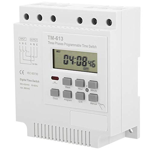 KSTE TM-163 Interruptor de Tres Fases 380V Digital Inteligente de Control programable semanal Power Timer