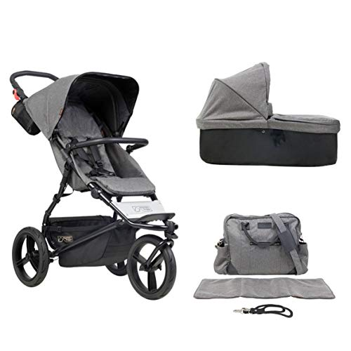 MB Urban Jungle Luxury Collection - herringbone + Wickeltasche + Babywanne (carrycot plus)