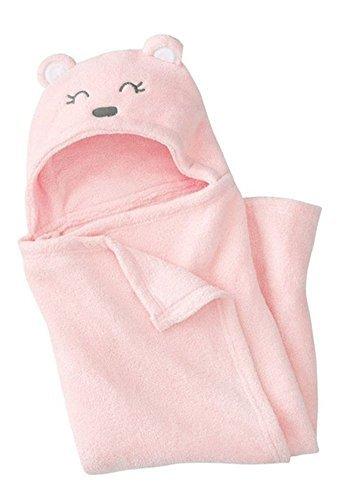 Très Chic Mailanda Bébé Sortie de Bain Animaux-Peignoir de Bain à Capuche-Serviette Peignoir à Capuche pour bébé 0-2 ans(100 * 100), Rose, Taille unique