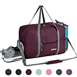 Sports Gym Bag with Wet Pocket & Shoes Compartment, Travel Duffel Bag for Men and Women Lightweight,...