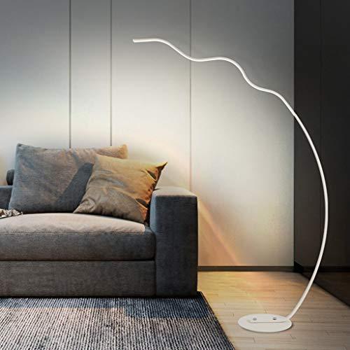JDKC- Luz de Piso LED con 3 Temperaturas de Color Lámpara de Pie de Lectura de 67 Pulgadas para la Decoración de la Oficina del Dormitorio de la Sala de Estar 18W (Color : White)