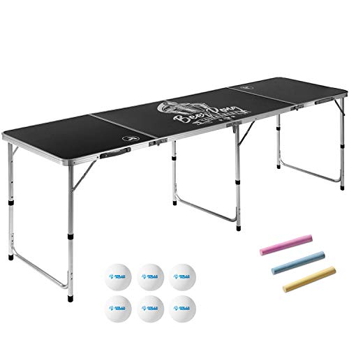 8 Foot Beer Pong Table CHALKBOARD by Rally and Roar - Portable Party Drinking Games - Official 8ft x...