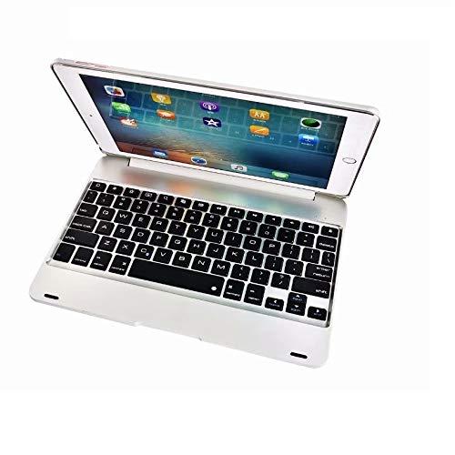 RZL Pad y Tab Fundas para iPad Air 2, Nueva Caja del Teclado de ABS A1566 A1567 Bluetooth Funda de Teclado inalámbrico para iPad Air 2 9.7 '' (Color : Silver)