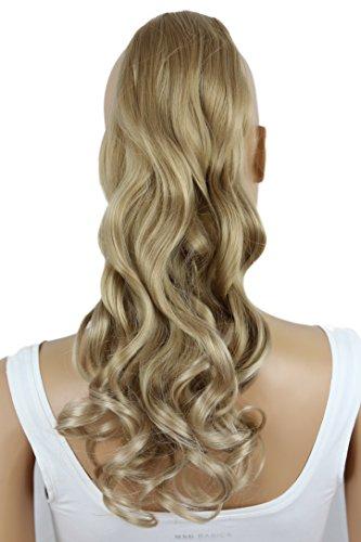 PRETTYSHOP 50cm Haarteil Zopf Pferdeschwanz Haarverlängerung Gewellt Blond HC23-1