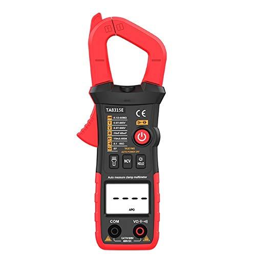 Multímetro de electricista DC Volt multímetro digital portátil TA8315E metro de la abrazadera automática AC / Amp Ohm capacitancia del diodo Fase LCD probador del amperímetro Para pruebas eléctricas