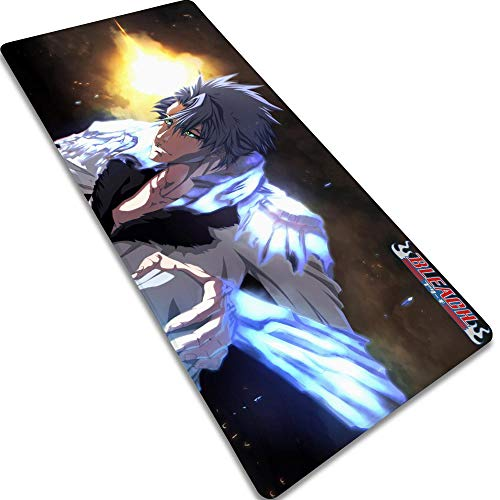 Gaming Mouse MatHitsugaya Toushirou-3 800X300X3MM XL Large Mouse Mat, Xxl Comfortable Keyboard Gaming Pad With Non-Slip Rubber Base Anime Mouse Pad For Laptop, Computer