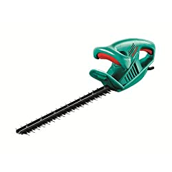 Lightweight at 2.5 kg, ergonomic design Powerful 420 W Bosch motor Ergonomic design with soft-grip handle Diamond ground blades for a clean, precise cut Complete with protective blade cover when not in use This is corded hedge trimmer No-load stroke ...