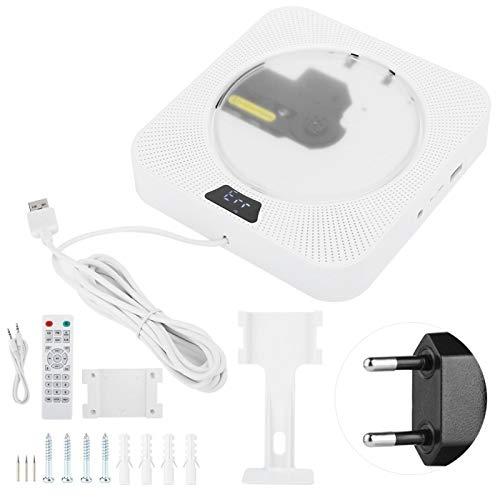 Agatige Reproductor de CD Portátil Compacto Antideslizante, Q200 Reproductor de CD de Audio Bluetooth Portátil Educación Fetal Relectura Dispositivo de Montaje en Pared 110~220V(ME)