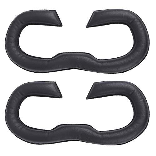 UKCOCO 2 Piezas VR Máscara de Cubierta Facial Compatible para Oculus Rift S - VR Cara Cojín VR Auriculares Cuero Cara Espuma Reemplazo Esponja Máscara de Ojos Almohadilla Cubierta