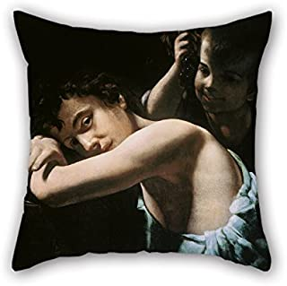 Uloveme Pillow Cases 18 X 18 Inches / 45 By 45 Cm(each Side) Nice Choice For Dining Room Pub Home Theater Sofa Office Boys Oil Painting Giovanni B. CARACCIOLO (called Battistello) - Two Youths With