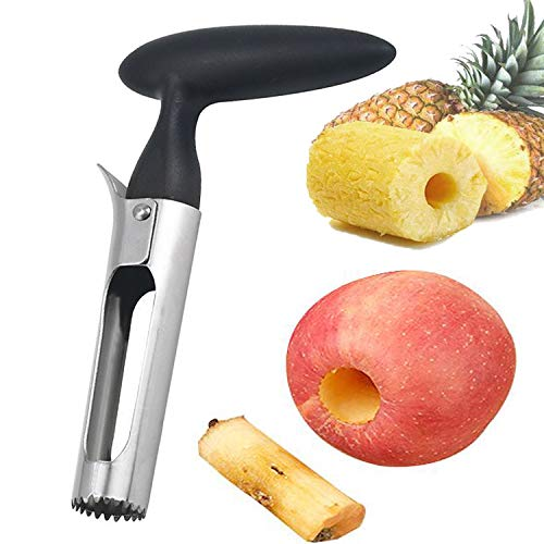 Apple Corer, Premium Stainless Steel Kitchen Gadget Tool Fruit Seeder Apple Corer Remover, Stainless Steel Apple or Pear Core Remover Tool for Home-Kitchen with Sharp Serrated Blade