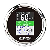 Velocímetro GPS, velocímetro digital a prueba de agua GPS odómetro apto ATV-UTV-MARINE-Barcos-Motocicletas-Automóviles-Motos-Carros de Golf