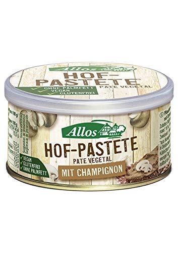 Allos Paté Vegetal Con Champiñones Bio, 125 G 21 g