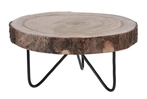 Meinposten. Decoratieve plank hout boomschijf houten plank boomstam dienblad met voeten Ø 30 cm