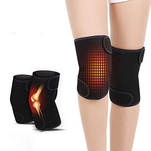 Tixiyu 2 magnetische Heizknieschoner für Männer und Frauen, selbstheizend, Kniebandage, Winter, warme Knie-Massage-Pads, 69 x 20 cm.
