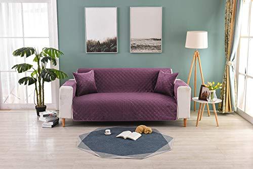 JUYOU Sitzer Schonbezug, Easy Stretch Elastic Fabric Sofa Protector Belegabdeckung Waschbar für Wohnzimmer und Schlafzimmer Farbe Sand