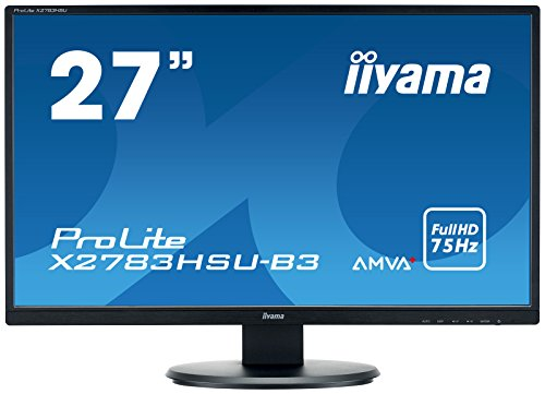 Iiyama Prolite X2783HSUB3 Ecran LED 27' AMVA Full HD 4 ms VGA/DP/HDMI Hub USB Multimedia Noir