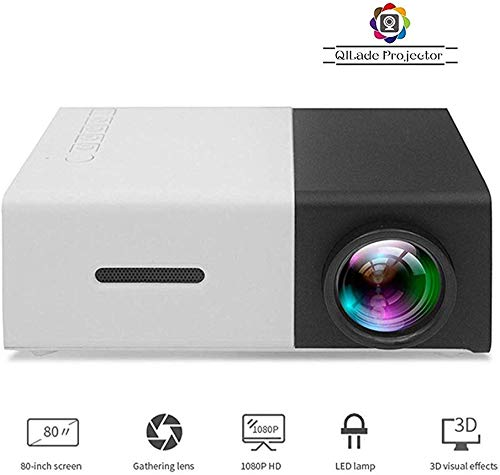 XYSQWZ Professional Projector Mini Projector/Portable Led Projector Support Pc Laptop/USB/Sd/Av/Hdmi Input for Video/Movie/Game/Home Theater Video Projector, Best Gift