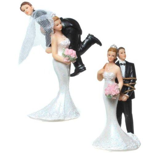 IDENA 8320273 - Deko-Brautpaar - 2 verschiedene Motive