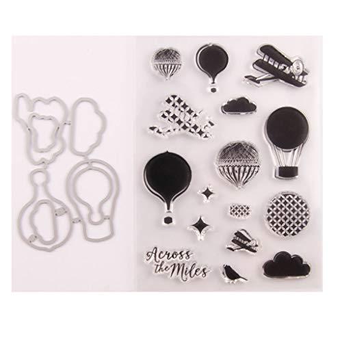 Luchtballon zegel stempel met stansvormen sjabloon set DIY scrapbooking fotoalbum decoratief papier kaart handgemaakt