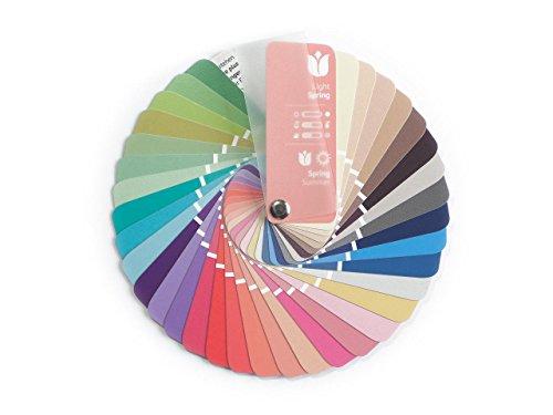 Farbpass Frühling-Sommer (Light Spring) als kleiner Fächer mit 35 typgerechten Farben zur Farbanalyse, Farbberatung, Stilberatung