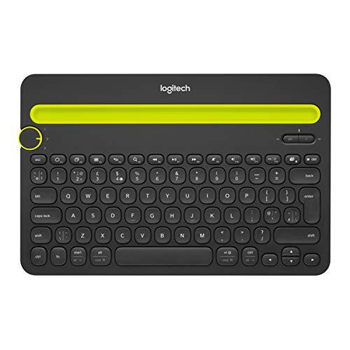 Logitech K480 Tastiera Wireless, Layout Olandese Qwerty, Nero