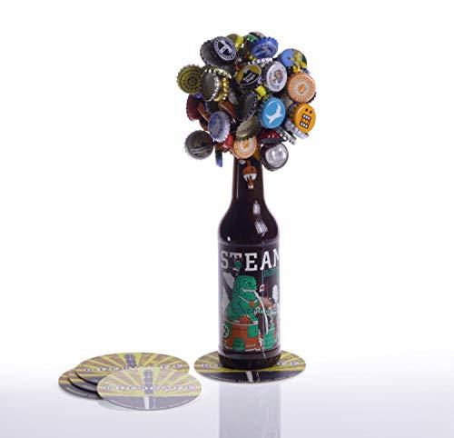 BIERSAFE-Cap-Collector: Starker Kronkorken-Sammel-Magnet, Flaschen-Baum/Wolke/Traube: 100-facher Kronkorken-Fangmagnet