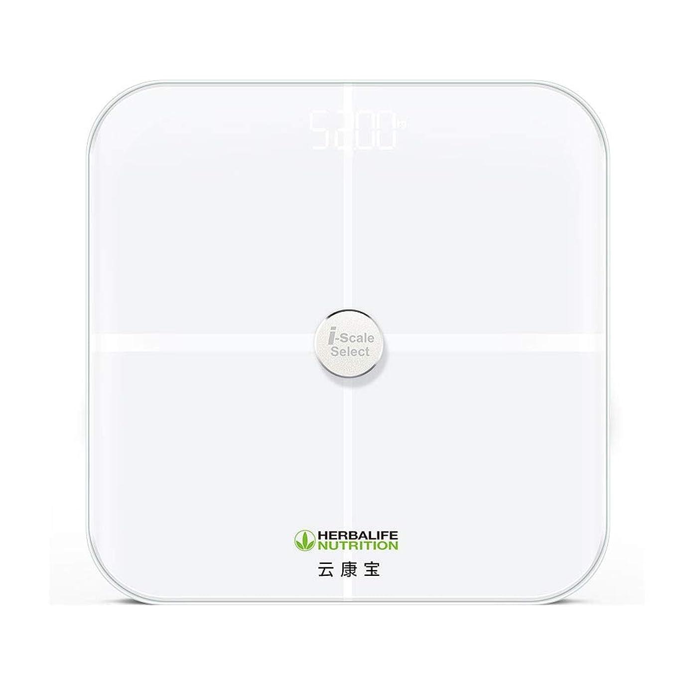 ふける化学薬品よく話される硝子体脂肪計、電子体重計、超薄型デジタル体重計、高精度センサー - 金属(ガラス)製直接31cm