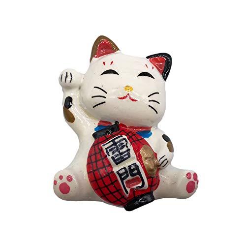 3D Glückliche Katze Japan Kühlschrank Kühlschrankmagnet Tourist Souvenirs Handgemachte Harz Handwerk Magnetische Aufkleber Home Küche Dekoration Reise Geschenk