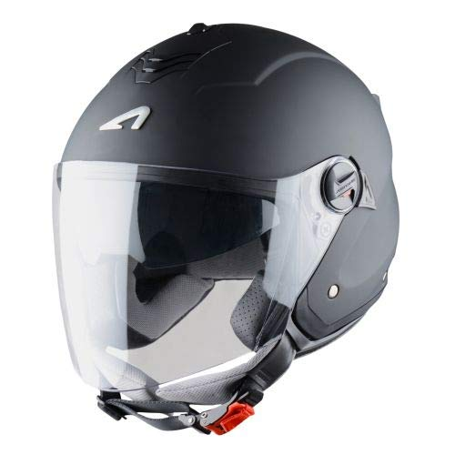 Astone Helmets Mini Jet, Casco Jet, color Negro Mate, talla M