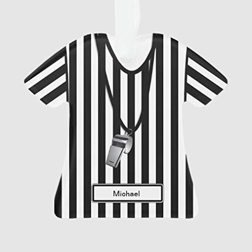 onepicebest Adornos de Navidad 2020 árbitro personalizado con silbato de camiseta, decoración para colgar, creativa fiesta de Navidad, regalo de Navidad