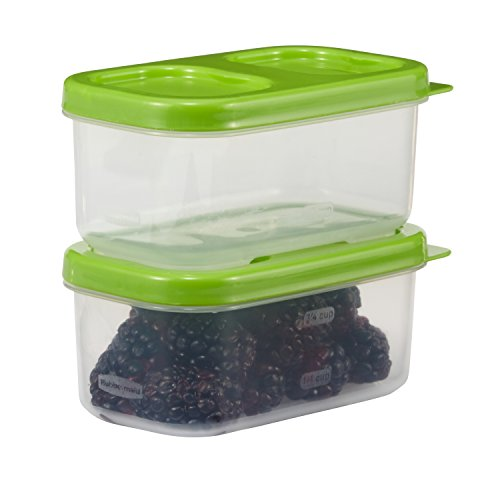 Rubbermaid LunchBlox Side Container, Green, Pack of 2 1806176