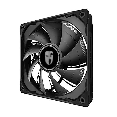 ZHMIAO Ventilador de la Caja de Control de Velocidad PWM, Hojas de Ventilador supercargadas de Doble Capa de bajo Ruido y absorción de Golpes Black