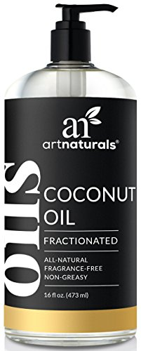 ArtNaturals Premium Fractionated Coconut Oil - (16 Fl Oz / 473ml) - 100% Natural & Pure –...