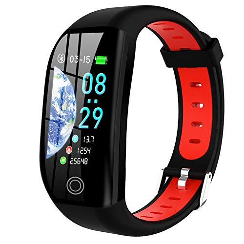 LTLGHY Smartwatch Relógio Inteligente, Impermeável IP68, Com Monitor De Sono, Pulsómetro, Cronómetro, Contador De Calorias, Pulseira De Atividade Compatível iOS E Android,Rojo