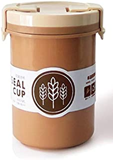 Deal Noon On the Go Cup Jar Leakproof BPA Free Breakfast Soup To-Go Container with Nut Fruit Compartment Inside. Portable ...
