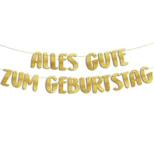 Lustige Banner zum Geburtstag, Glitzerbanner Alles Gute zum Geburtstag, Partyzubehör