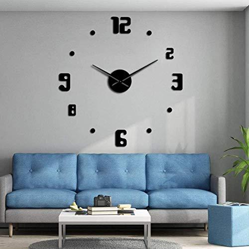 3D DIY wandklok DIY modern design grote muur klok kwarts klok muur klok grote klok naald acryl spiegel sticker DIY 3D Sticker huisdecoratie woonkamer slaapkamer decoratie